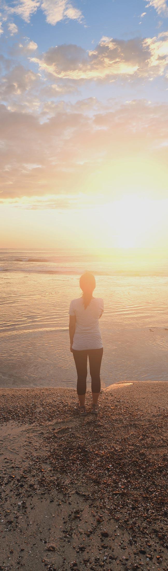 Sunrise at a beach